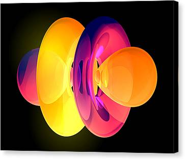 4fz3 Electron Orbital Canvas Print by Laguna Design