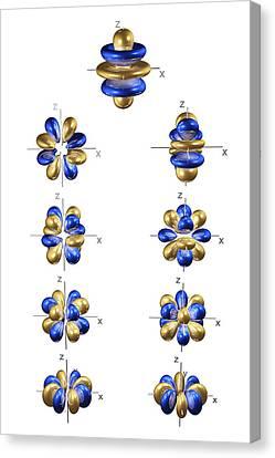 Electron Orbital Canvas Print - 5g Electron Orbitals by Dr Mark J. Winter