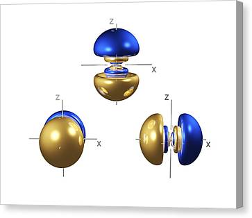 Electron Orbital Canvas Print - 5p Electron Orbitals by Dr Mark J. Winter