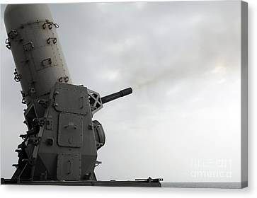 A Close-in Weapons System Is Fired Canvas Print by Stocktrek Images
