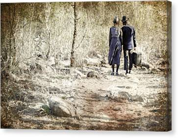 A Couple In The Woods Canvas Print by Joana Kruse
