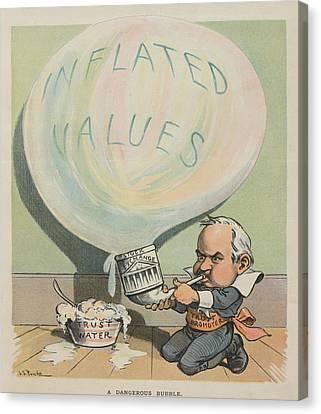A Dangerous Bubble 1902 Cartoon Canvas Print by Everett