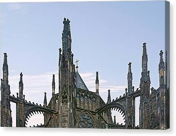 A Forest Of Spires - St Vitus Cathedral Prague Canvas Print by Christine Till