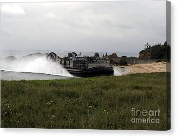 A Landing Craft Air Cushion Comes Canvas Print by Stocktrek Images