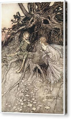 A Midsummer Night's Dream Canvas Print by Arthur Rackman