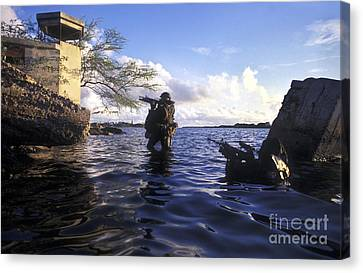 A Pair Of Navy Seal Combat Swimmers Canvas Print