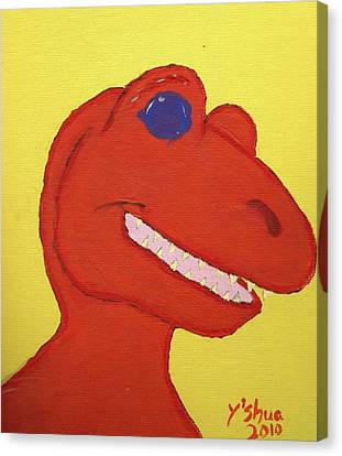 A Saurus Wrex Canvas Print by Yshua The Painter