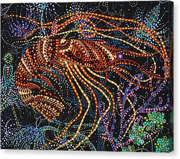 A Shrimp Canvas Print by Erika Pochybova