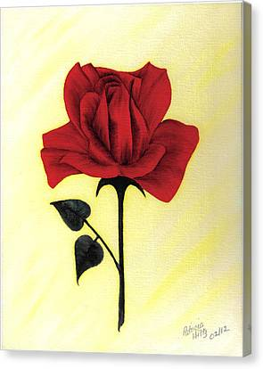 Canvas Print featuring the painting A Touch Of Beauty by Patricia Hiltz