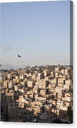 A View Of Amman, Jordan Canvas Print by Taylor S. Kennedy