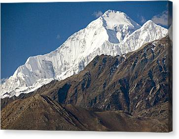 A View Of Dhaulagiri From The North Canvas Print by Stephen Sharnoff