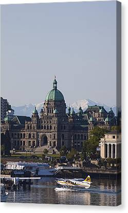 A View Of The Legislative Building Canvas Print by Taylor S. Kennedy