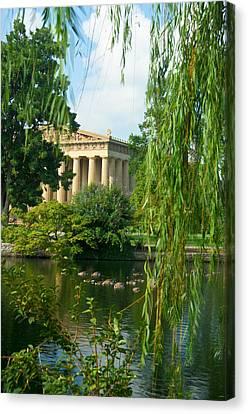 A View Of The Parthenon 17 Canvas Print by Douglas Barnett