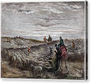 Abraham Entering Canaan Canvas Print by Granger