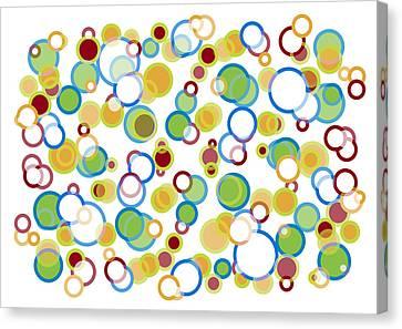 Abstract Circles Canvas Print by Frank Tschakert