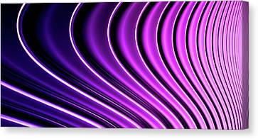 Abstract Curved Lines, Diminishing Perspective Canvas Print by Ralf Hiemisch
