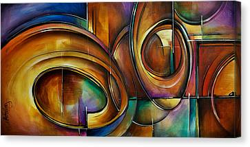 Abstract Design Canvas Print by Michael Lang