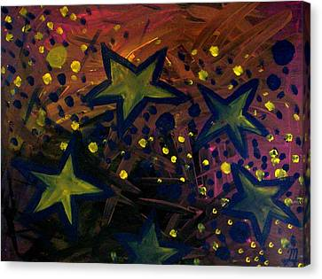 Canvas Print featuring the painting Abstract Stars by Monica Furlow