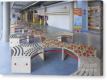 Abstractly Designed Benches Canvas Print