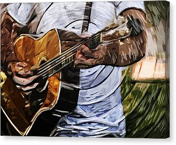 Acoustic Blues Canvas Print by Tilly Williams