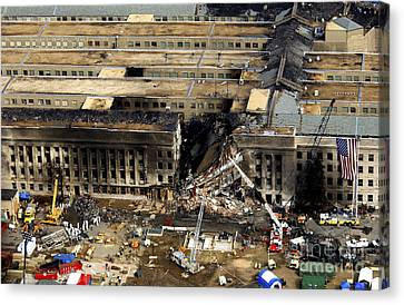 Aerial View Of The Terrorist Attack Canvas Print