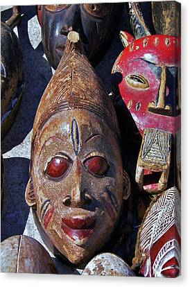 Canvas Print featuring the photograph African Mask by Werner Lehmann