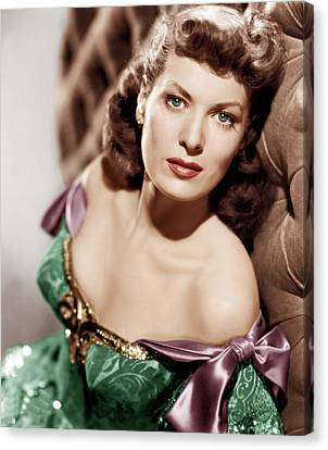 Bare Shoulder Canvas Print - Against All Flags, Maureen Ohara, 1952 by Everett