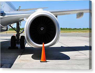 Air Transportation. Jet Engine Detail. Canvas Print by Fernando Barozza