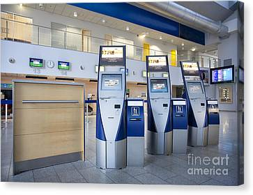 Airport Check In Terminals Canvas Print by Jaak Nilson