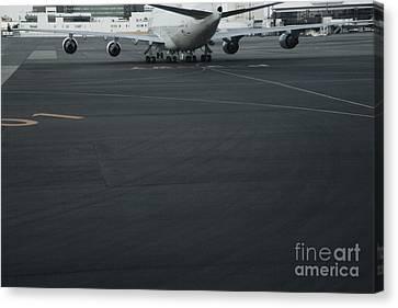 Airport Tarmac Canvas Print by Shannon Fagan