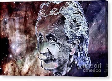 Albert Einstein Canvas Print by Elinor Mavor