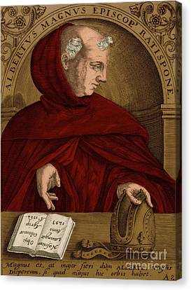 Albertus Magnus, Medieval Philosopher Canvas Print by Science Source