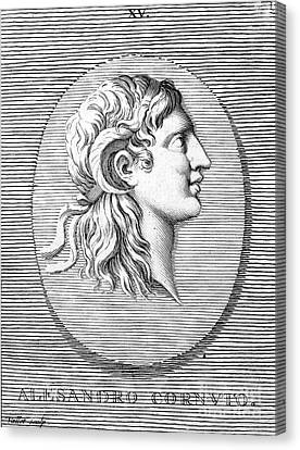 Alexander The Great (356-323 B.c.) Canvas Print by Granger