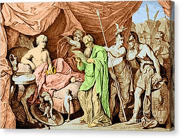 Alexander The Great And His Physician Canvas Print