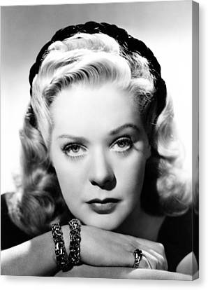 Alice Faye, Ca. Early 1940s Canvas Print by Everett