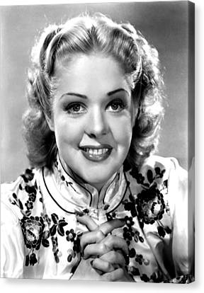 Alice Faye, Ca. Late 1930s Canvas Print