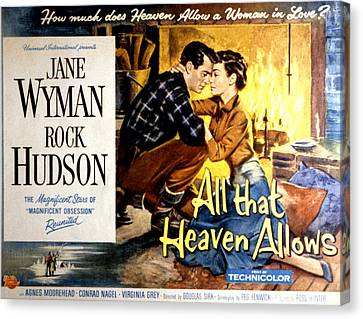 All That Heaven Allows, Rock Hudson Canvas Print by Everett