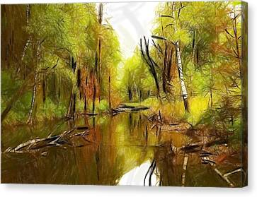 Along The River Canvas Print by Steve K