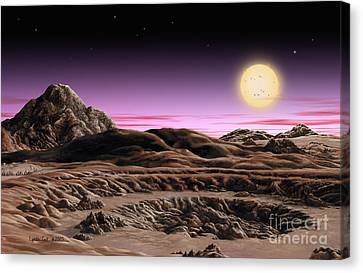 Alpha Centauri System Canvas Print by Lynette Cook