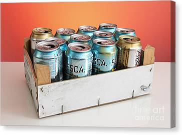 Aluminum Cans For Recycling Canvas Print