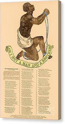 Antislavery Canvas Print - Am I Not A Man And A Brother by Photo Researchers