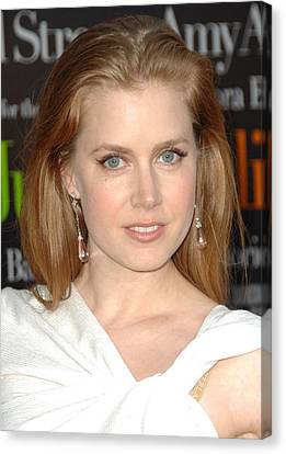 Dangly Earrings Canvas Print - Amy Adams At Arrivals For Julie & Julia by Everett