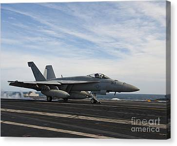 An Fa-18f Super Hornet Takes Canvas Print by Stocktrek Images