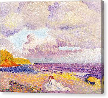 An Incoming Storm Canvas Print by Henri-Edmond Cross
