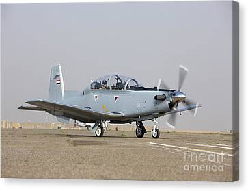 An Iraqi Air Force T-6 Texan Trainer Canvas Print by Terry Moore