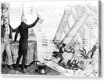 Andrew Jackson Cartoon Canvas Print by Granger