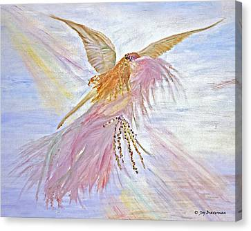 Canvas Print featuring the painting Angel-keeper Of The Rainbow by Joy Braverman
