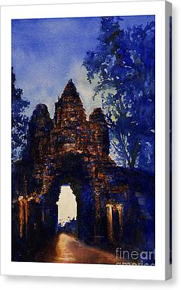 Angkor Sunrise Canvas Print