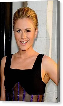 Anna Paquin At Arrivals For True Blood Canvas Print by Everett