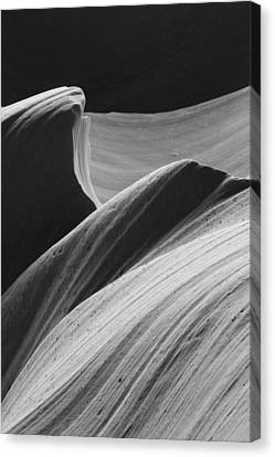 Canvas Print featuring the photograph Antelope Canyon Desert Abstract by Mike Irwin